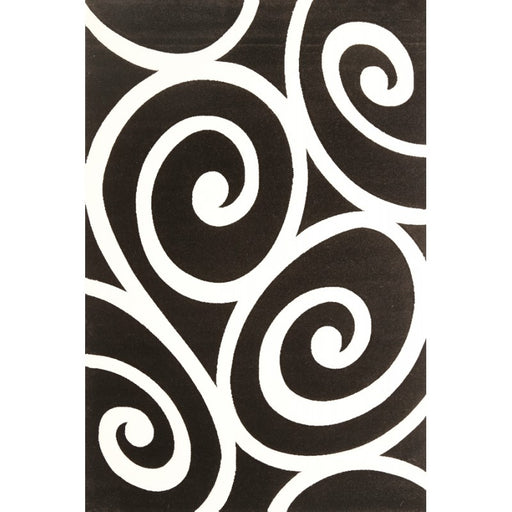 Black & white Koru Design Turkish Rug-Modern Rug-Rugs Direct
