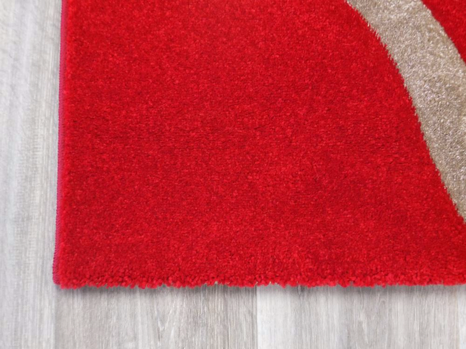 Red Contemporary Design Modern Turkish Rug