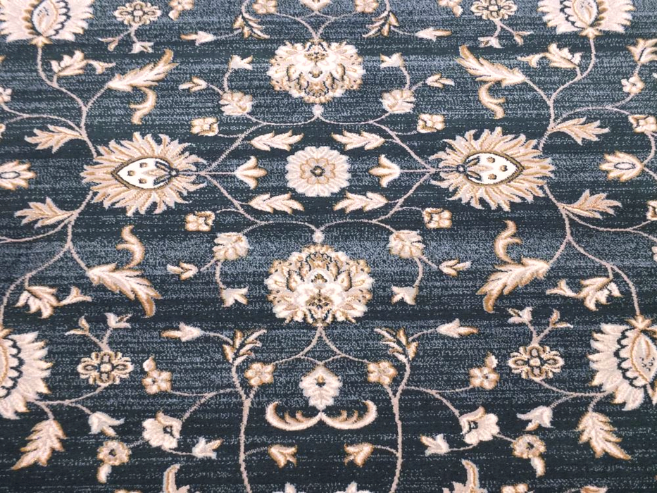 Navy & Cream Traditional Turkish Rug-Traditional Design-Rugs Direct