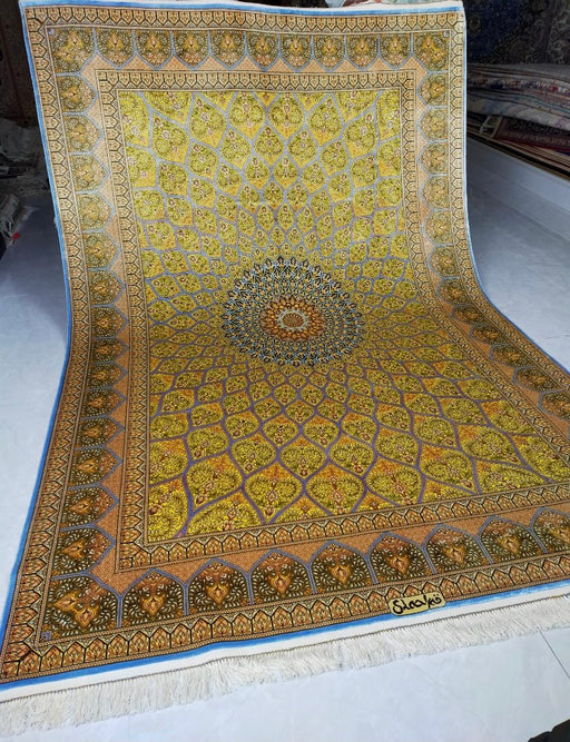 Hand Knotted Persian Design Pure Silk Rug Size: 253 x 169cm