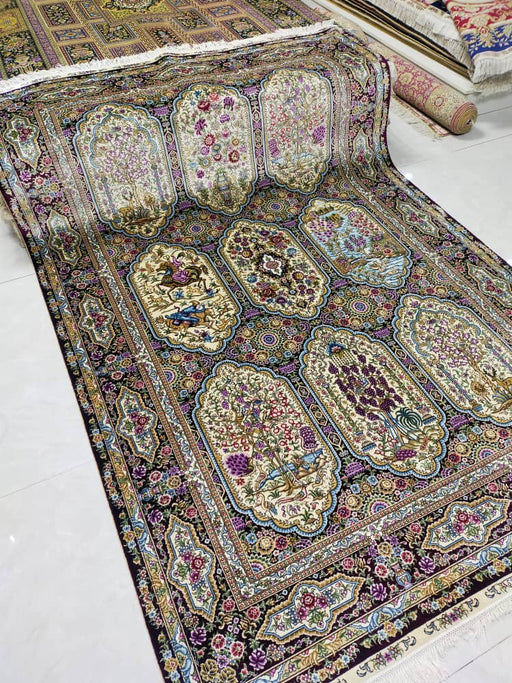 Hand Knotted Persian Design Pure Silk Rug Size: 253 x 155cm
