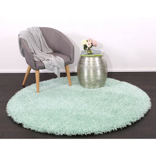 Light Blue Turkish Shaggy Rug