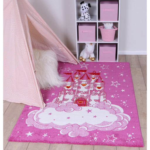 KIDS PRINCESS CLOUD CASTLE RUG SIZE: 160 x 230cm