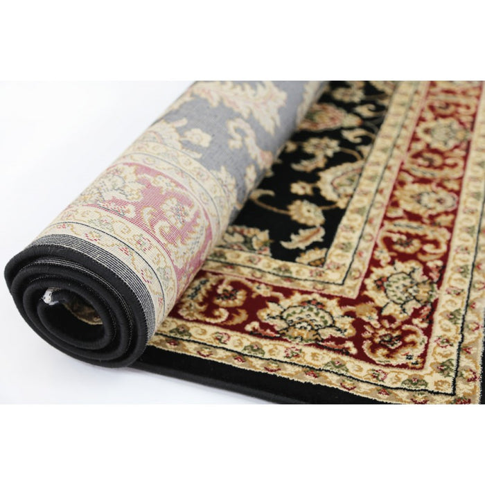Black & Red Traditional Design Rug-Traditional Design-Rugs Direct