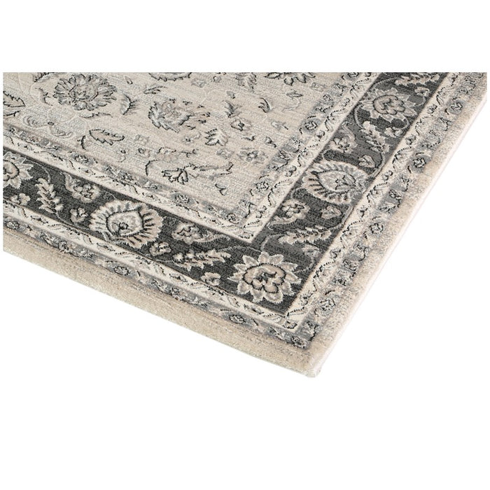 Soft Grey Traditional Design Turkish Rug