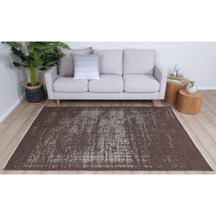 Distressed Double-sided Patterned Rug