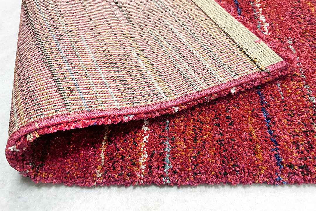 Thick Modern Cerise Pink Shaggy Rug-Modern Rug-Rugs Direct