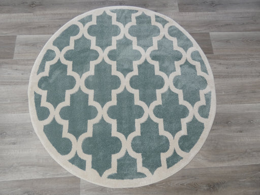 Morrocan Tile Design Turkish Round Rug Size: 133 x 133cm