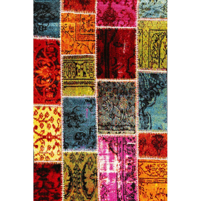 Multi Colour Patchwork Design Turkish Rug Size: 200 x 290cm