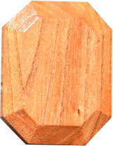 Twoodie wooden stacking gem in Japanese Zelkova wood with visible woodgrain