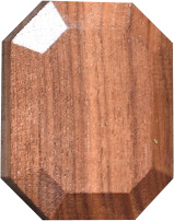 Twoodie wooden gem in walnut from America and safe wood for baby toys