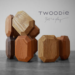 luxury baby organic stacking blocks on wooden table