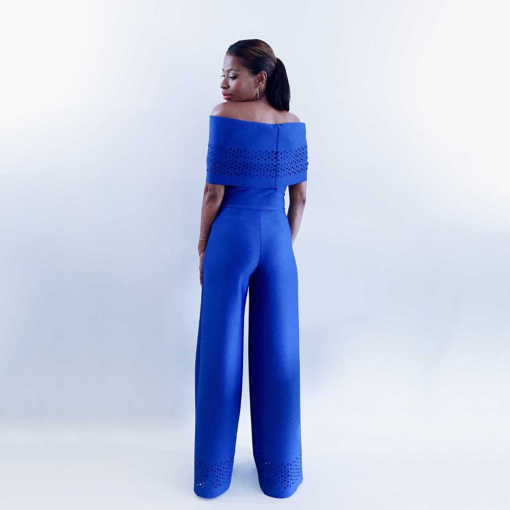 ALEXIS - Strapless Wide-leg Jumpsuit