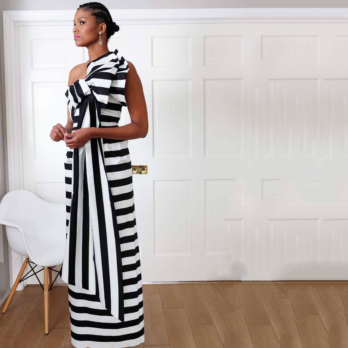 Bows & Stripes Gown