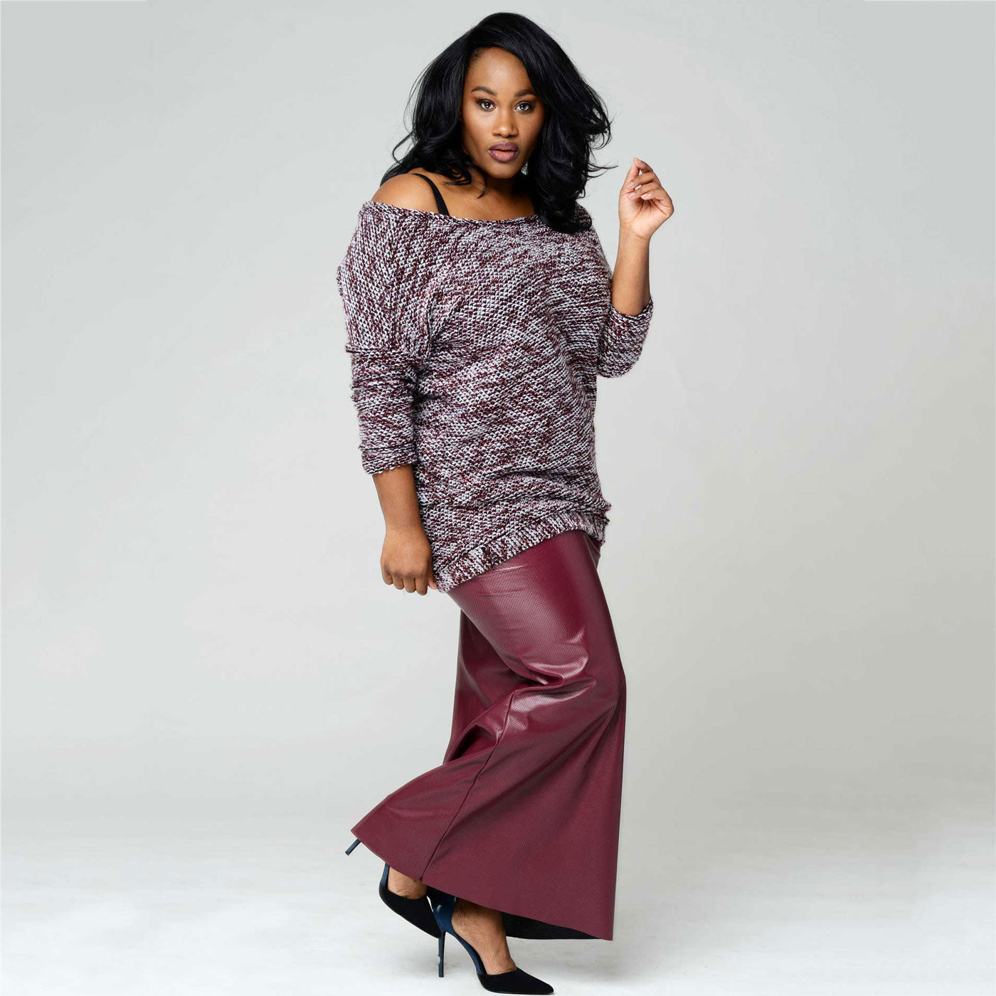 Lean Lehla Faux Leather Skirt