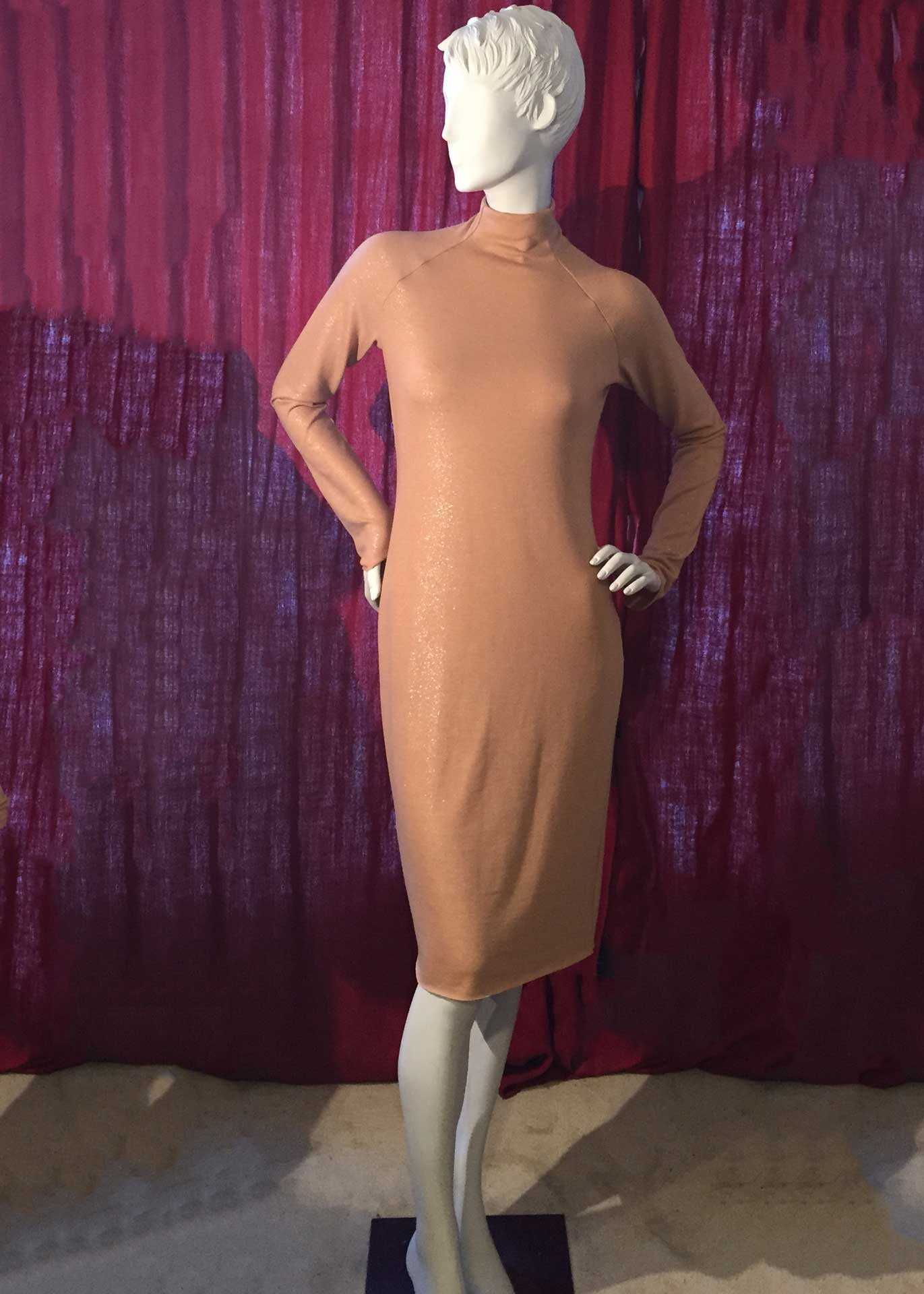 NICKY Funnel Neck Sheath Dress