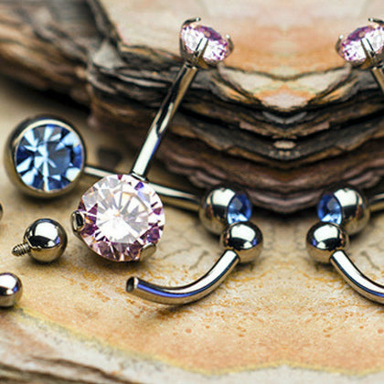 Get pierced with fine quality titanium and gold jewelry t