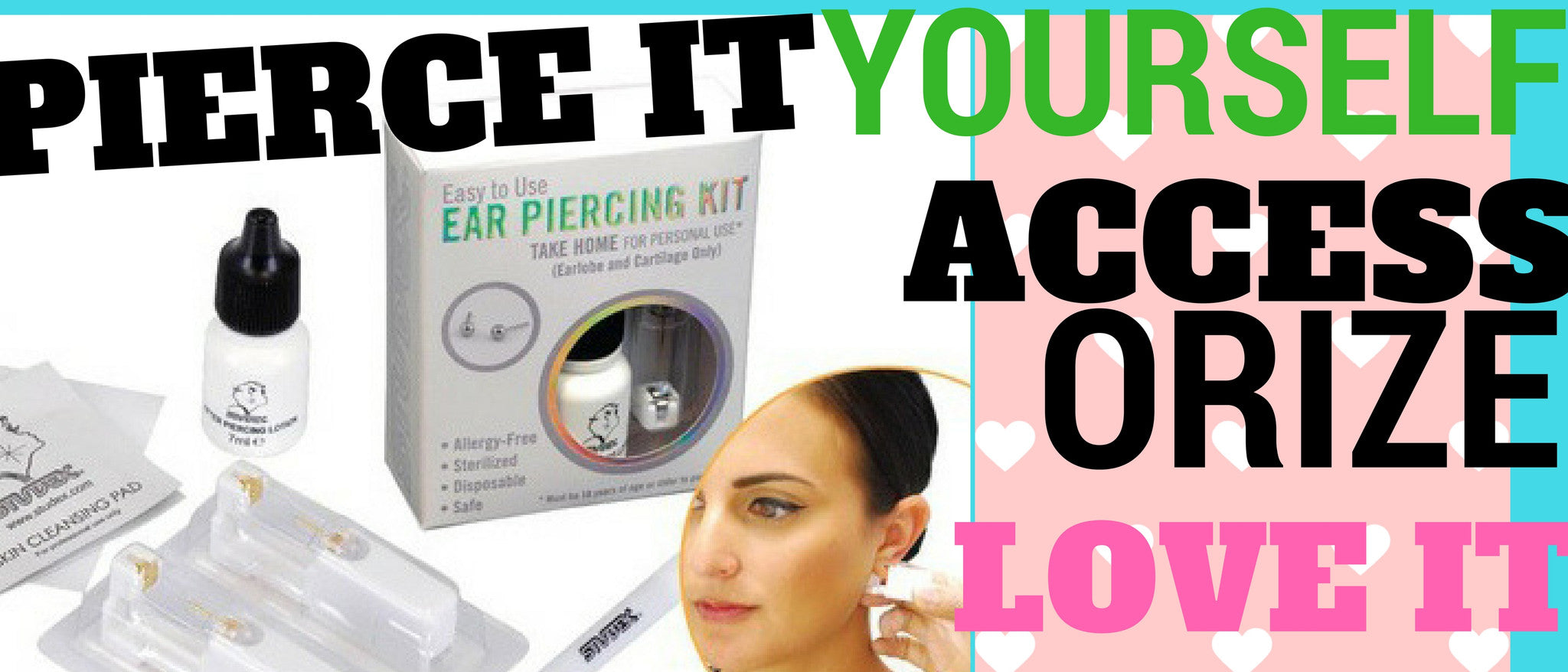 The personal ear piercing kit online. Pierce it yourself right in your livingroom.  Buy yours today online at Pierce Me your No.1 piercing shop in the Washington DC metro area.