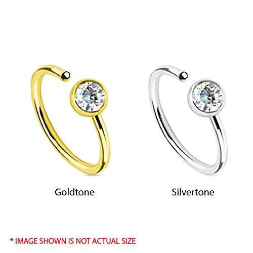 2 piece Luxurious Body Jewelry Accessories Piercing Nose Hoop Ring. Get 2 more FREE with purchase.