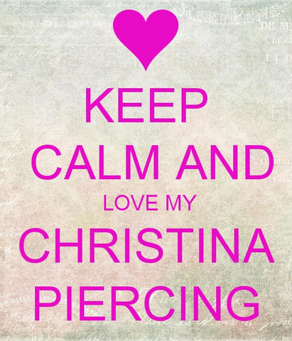 Body Piercing - Christina Piercing LOVE PM Pink Valentines Sale