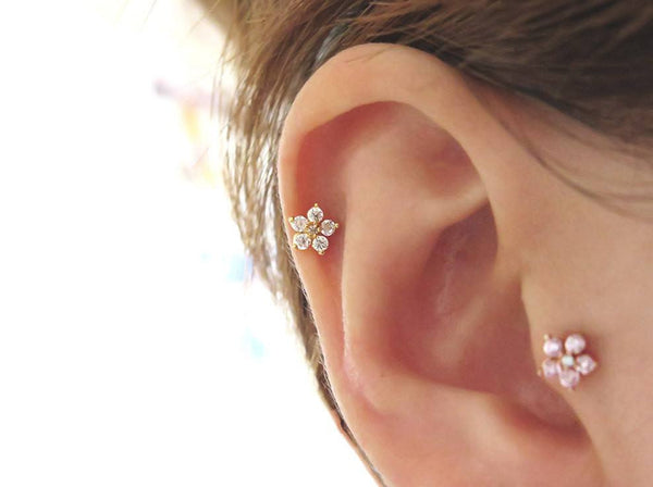 Body Piercing - Tragus Ear Piercing LOVE PM Pink Valentines Sale