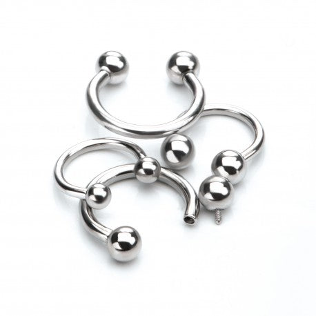 Nipple Titanium Horseshoe rings