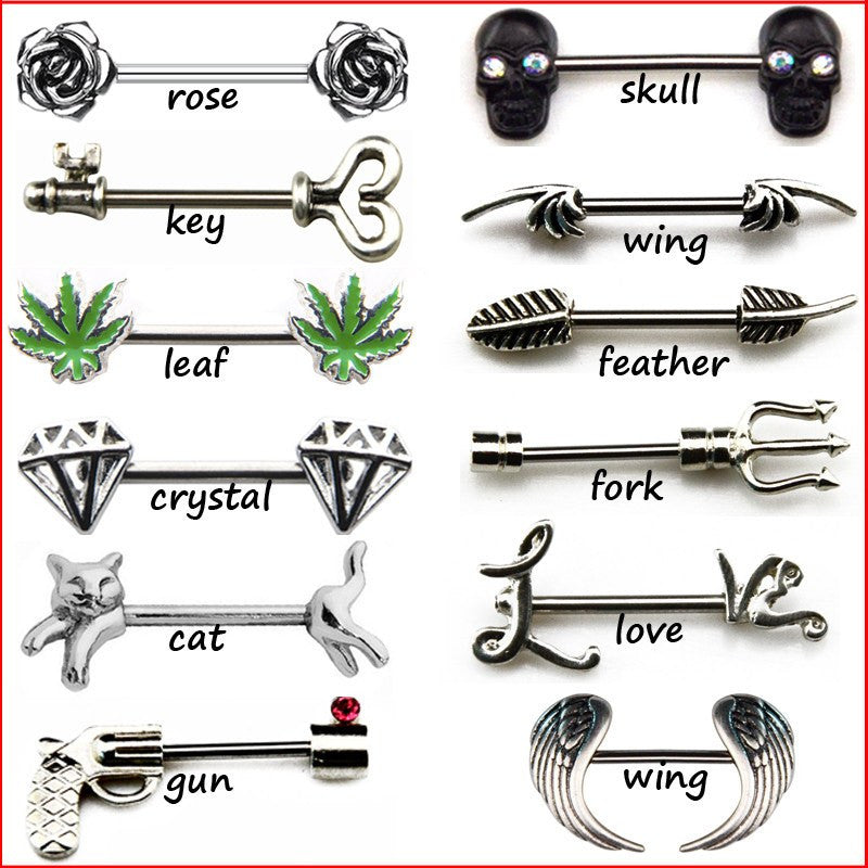 Nipple Rings - HOT SALE!  BUY 2 Get 1 FREE Gift. Sexy PIERCE ME 316L Surgical Steel Nipple Barbell Ring Body Jewelry
