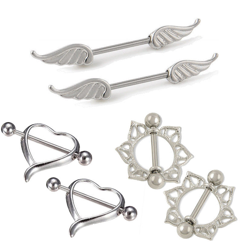 BUY 2 GET 1 FREE Heart/Wing/ Flower Nipple Rings