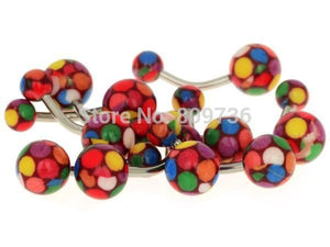 NEW!  7 Piece Pack....Get 5 More FREE PM Candy belly rings, belly rings, Pierce Me Body Piercing Shops