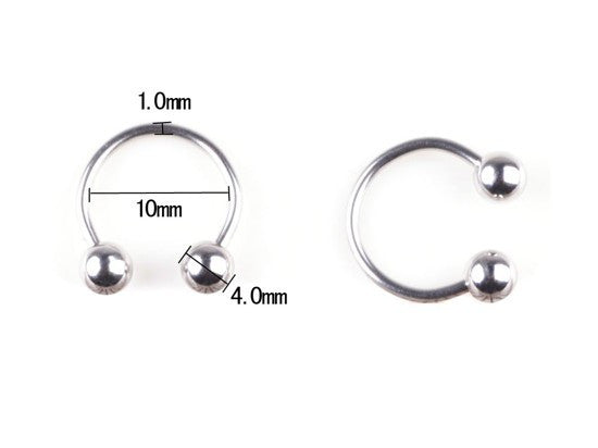 PM Titanium Horseshoe Rings, Earrings, Pierce Me Body Piercing Shops
