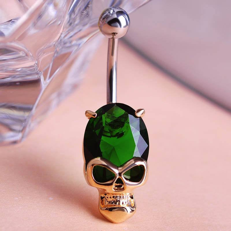 Very Luxury Zirconia Piercing Accessories Skull Belly Piercings Fashion Women's body Jewelry Gold