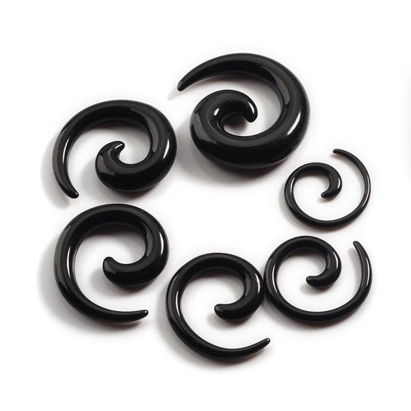 6 Piece Mix Lot Acrylic Spiral Ear Stretching Tapers Body Jewelry Accessories GET 6 MORE FREE!