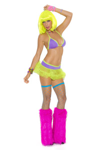 Rave Girl 2 Piece Ruffle Skirt & Top, Rave, Pierce Me Body Piercing Shops