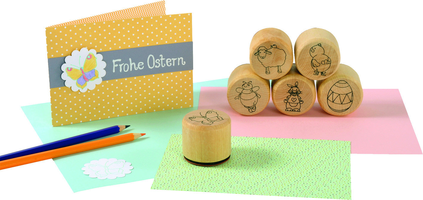 Wooden, Easter, Stamp