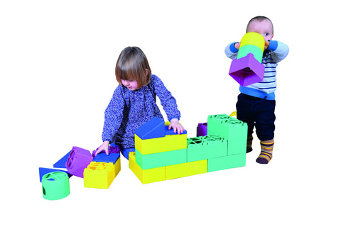 Large Plastic Blocks 102 pcs