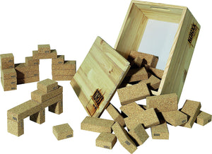 Cork Building Blocks box