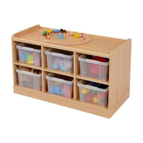 6 Clear Plastic horizontal Deep Tray Storage Unit