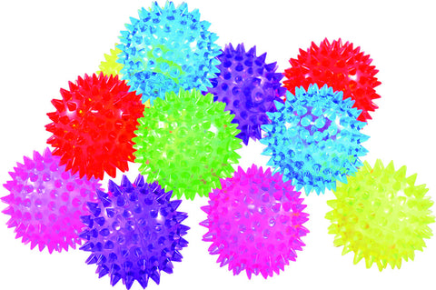 10 pack of Hedgehog Balls with Lights, Light , Sensory
