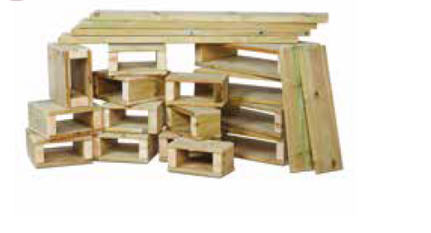 Outdoor, Wooden , Building Blocks