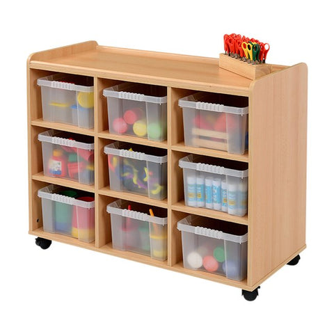 9 Clear Plastic Deep Tray Storage Unit