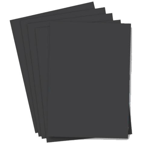 A4 Black Card Sheets