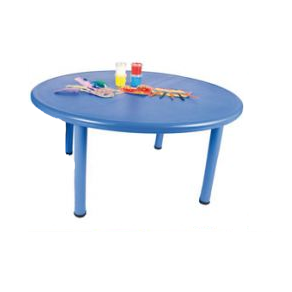 Round Blue Plastic Table