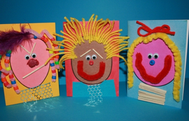 Make A Face - Colour And Collage Cards
