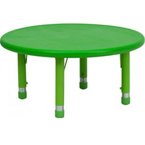 Green Round Table.Round Plastic Table