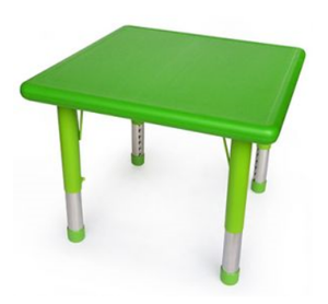 Square Green Plastic Table