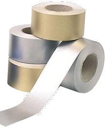 4 x Straight Edge Metallic Border Rolls