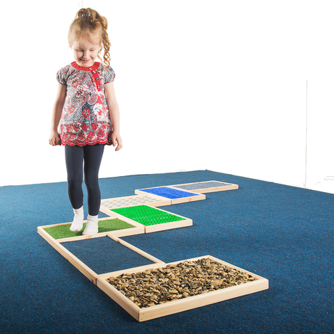 Tactile path in use