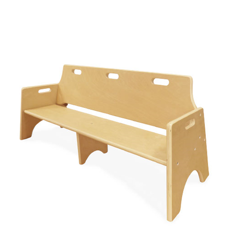 Wobbler 3 seat Wooden Bench