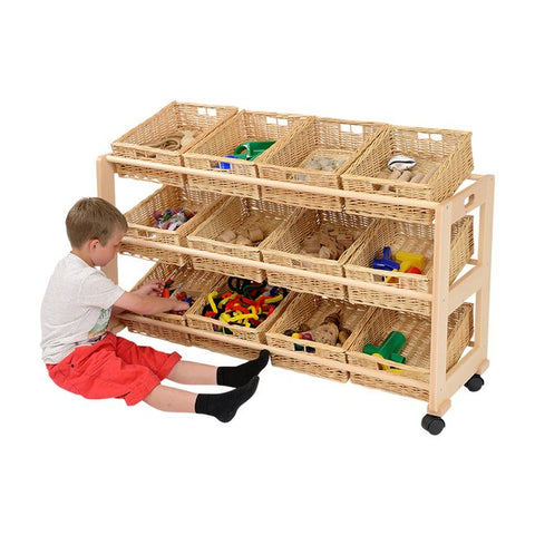 12 Wicker Basket Classroom Tidy