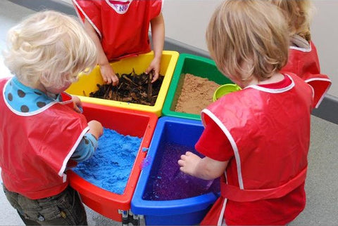 Exploration Trays in nursery, Messy Play, Sensory